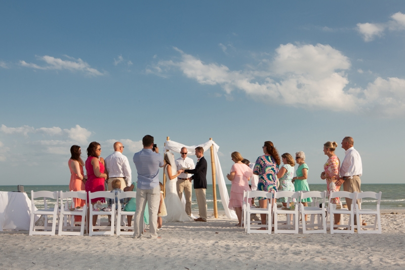intimate destination beach wedding - Sanibel Island, FL